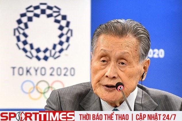 Chủ tịch Olympic Tokyo 2020 Yoshiro Mori lo ngại sự kiện bị hủy. Ảnh:Getty