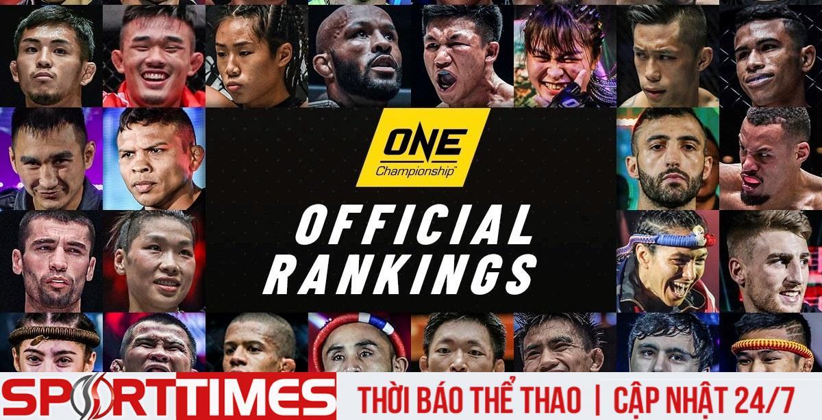 Công bố bảng xếp hạng các võ sĩ của ONE Championship: Thành Lê đã rất gần với Martin Nguyễn