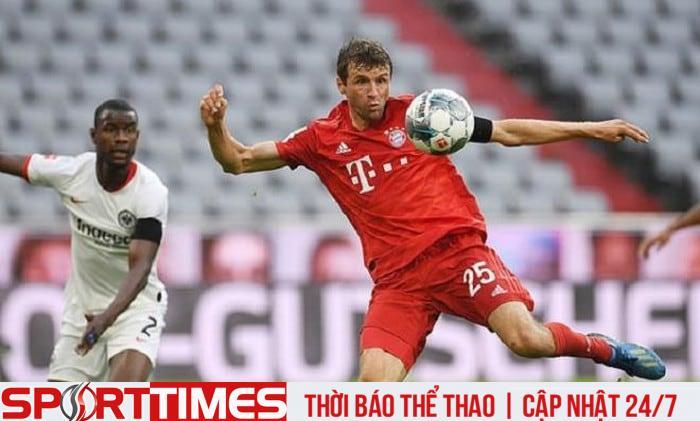 Thomas Muller ghi 1 bàn, kiến tạo 1 bàn trong hiệp 1.