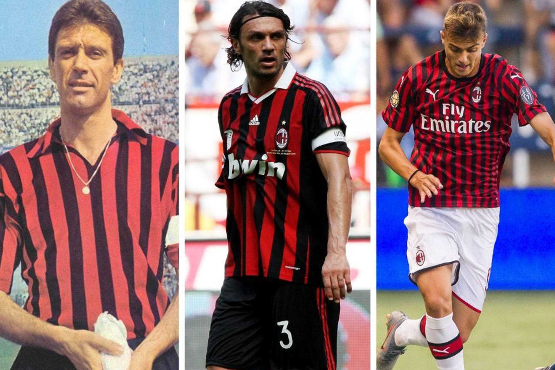 Cả ba thế hệ nhà Maldini đều thi đấu cho AC. Milan