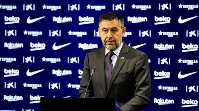 Bartomeu từ chức chủ tịch Barca trước một năm so với nhiệm kỳ