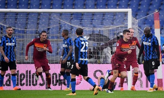 Conte mắc sai lầm tai hại, Inter chia điểm đáng tiếc trước Roma - Bóng Đá