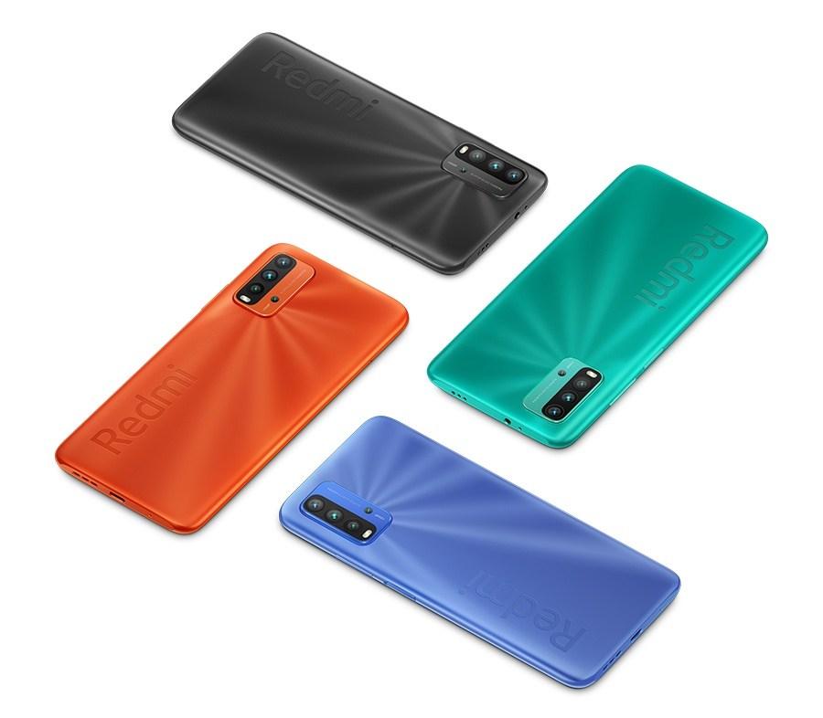 Redmi 9T tại Việt Nam có các tùy chọn màu sắc như Xám Carbon, Xanh Chạng Vạng, Cam Ban Mai và Xanh Ngọc Biển