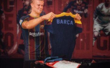 Cập bến Barca, Erling Haaland nhận ngay áo số 9?