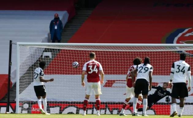 Thống kê Arsenal 1-1 Fulham - Bóng Đá