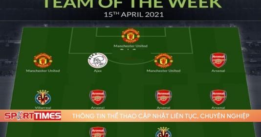 """Đội hình tiêu biểu tứ kết lượt về Europa League: """"Liên minh"""" Man Utd - Arsenal áp đảo"""