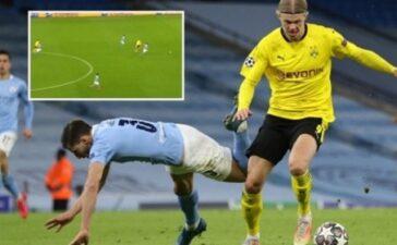 """Khoảnh khắc Haaland """"thổi bay"""" Ruben Dias khiến Premier League rùng mình khiếp sợ"""