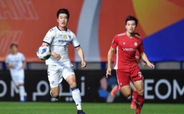 Bùi Tiến Dũng, Quế Ngọc Hải vắng mặt, Viettel thua đậm đội bóng Hàn Quốc