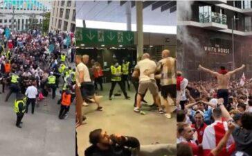 CĐV Anh đánh nhau, tấn công cảnh sát và cầu thủ đội nhà