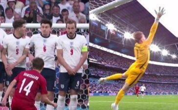Ai cũng nói về quả penalty, nhưng báo Anh bảo bàn thắng của Đan Mạch mới là không hợp lệ