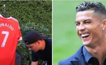 Sự thật đằng sau video fan Man United đốt áo Cristiano Ronaldo vì tưởng CR7 sang Man City